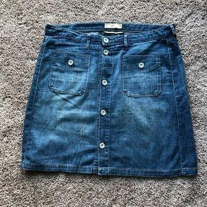 Levi's  Button Front Jean Skirt Size 12